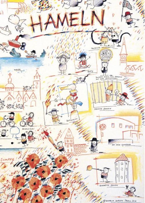 Stadtplakat Hameln